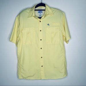 GUY HARVEY Short Sleeve Button Down Vented Shirt S